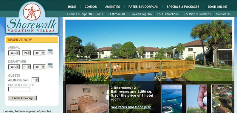 Shorewalk Website Home Page