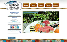 Wahoo's Fish House Website