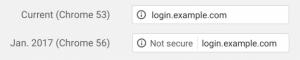 chrome not secure warning origin
