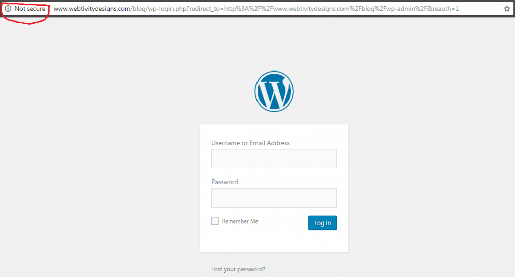 wordpress unsecured example