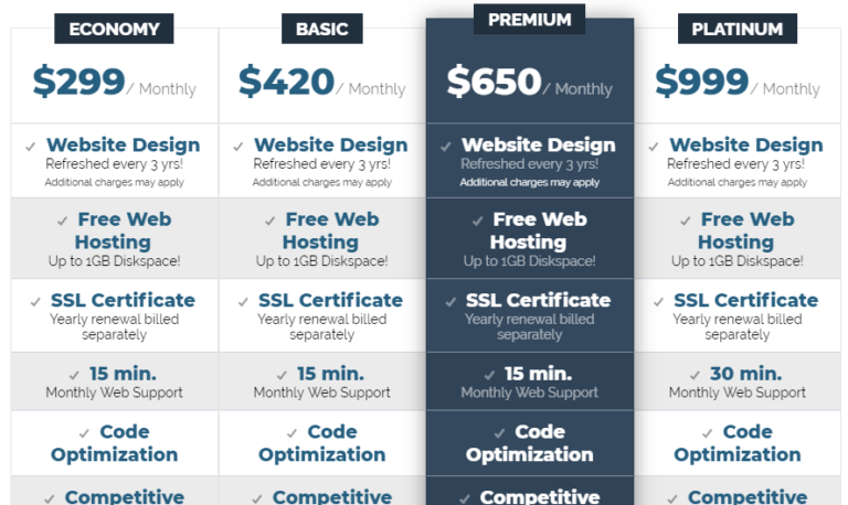 Check out our Brand New Web Design & SEO Packages