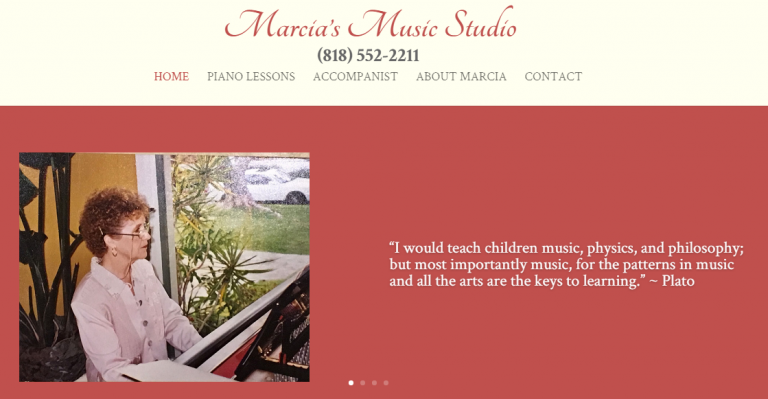 Webtivity Launches New Website for Marcia's Music Studio