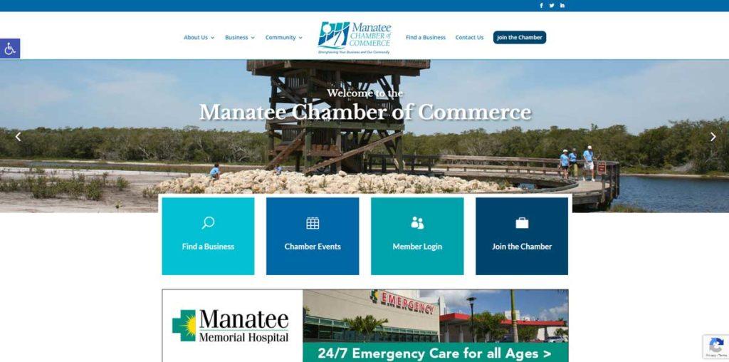 Manatee Chamber website