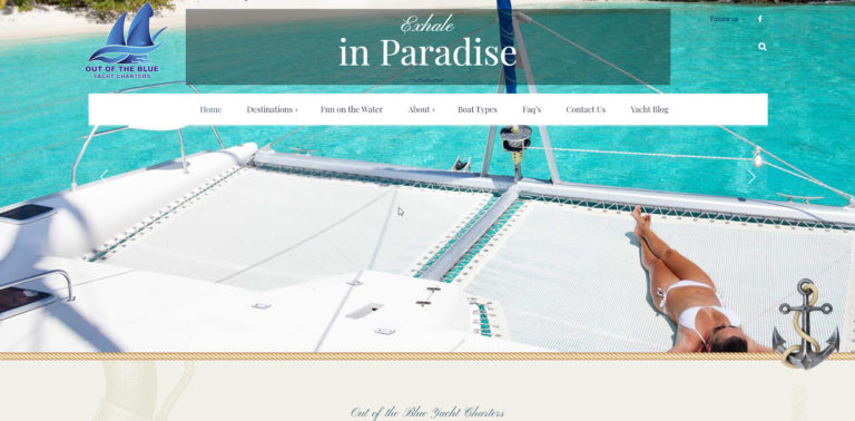 Webtivity Launches New Website for Out of the Blue Yacht Charters