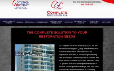 Webtivity Launches New Website for Complete General Contracting Group