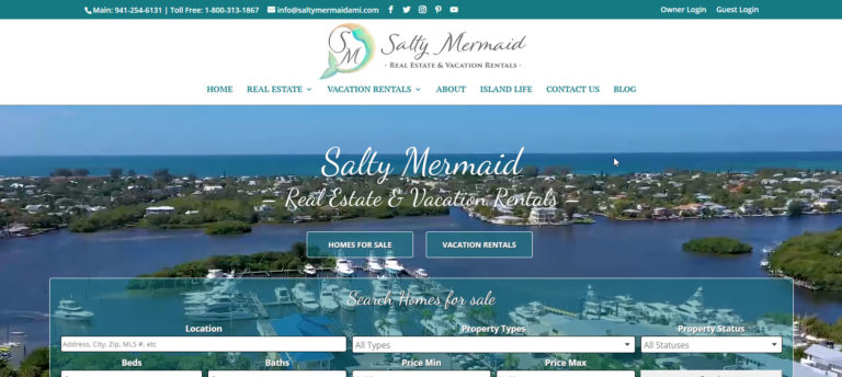 Webtivity Launches New Website for Salty Mermaid Real Estate & Vacation Rentals