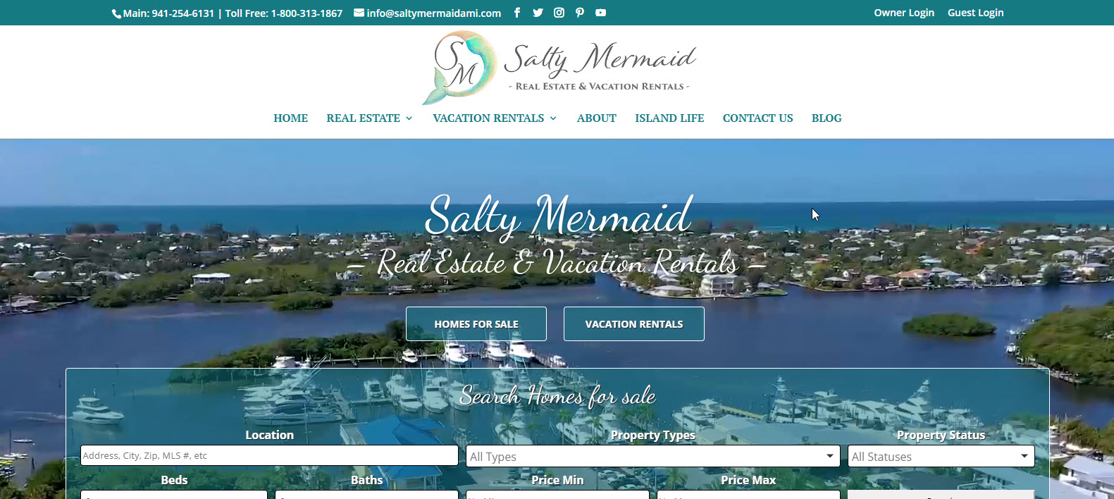 Salty Mermaid Real Estate Holmes Beach Anna Maria Bradenton Beach