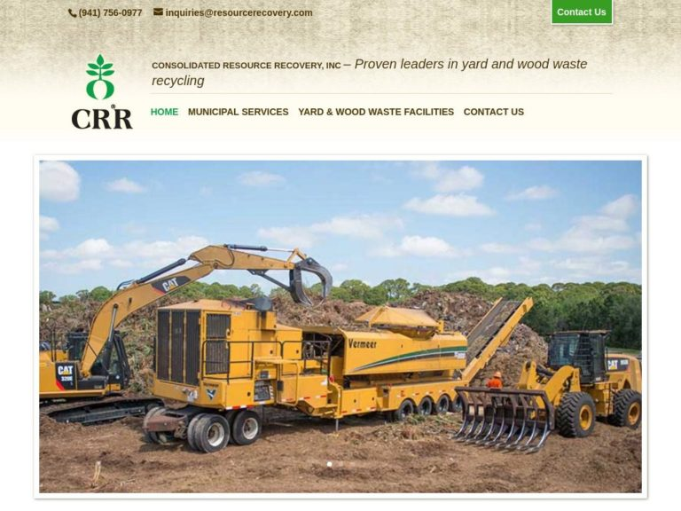 Webtivity Launches New Website for Consolidated Resource Recovery!