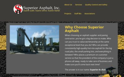 Webtivity Launches New Website for Superior Asphalt!