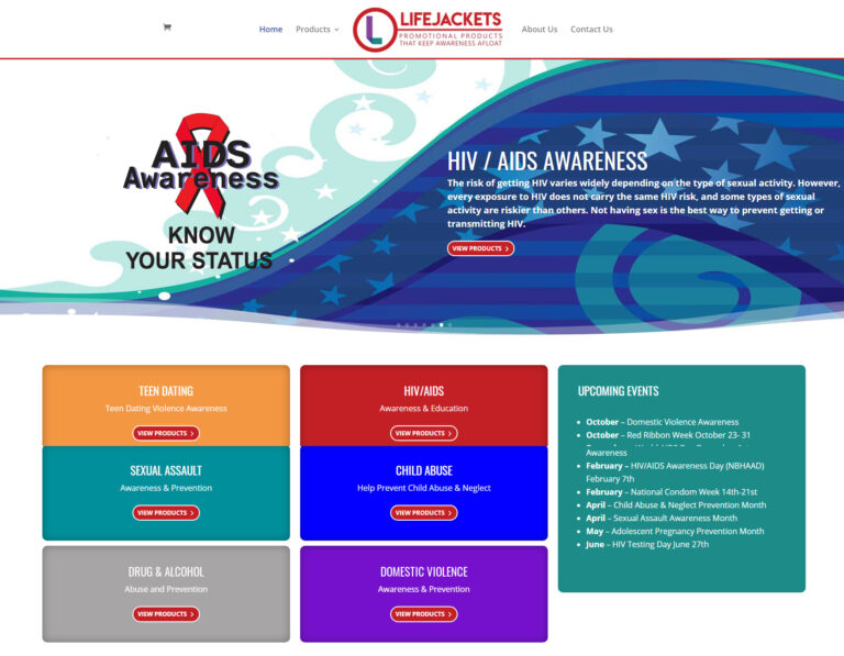 Webtivity Launches New Website for LifeJackets!