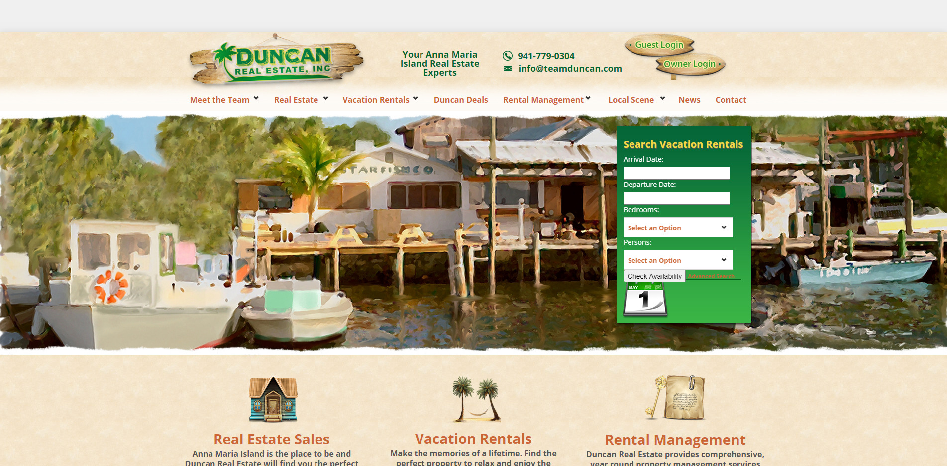 Duncan Real Estate old website