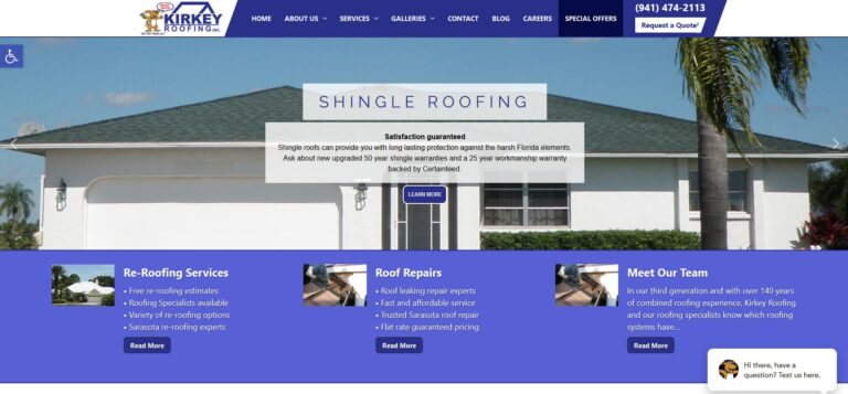 Webtivity Launches New Website for Kirkey Roofing!