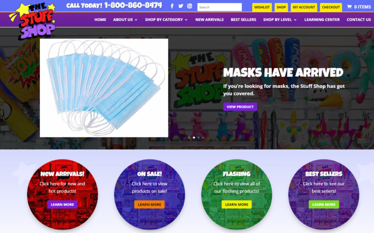 Webtivity Launches New Website for The Stuff Shop!