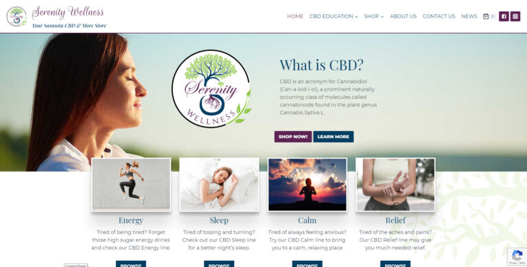 WEBTIVITY LAUNCHES NEW WEBSITE FOR SERENITY WELLNESS!