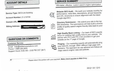 Beware of SEO/Link Building Billing Scam